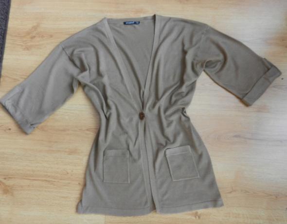 Sweterek narzutka XL 40 14 beżowy...