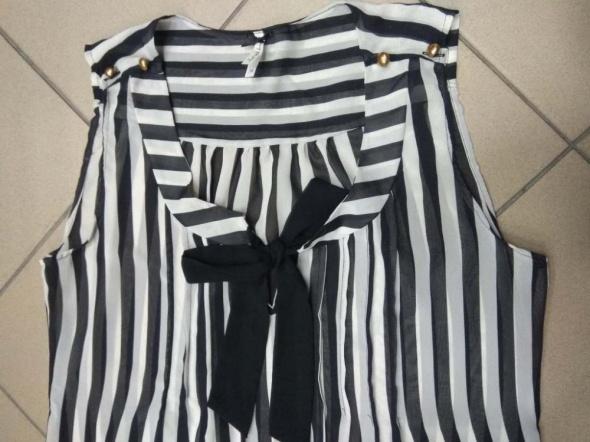 Bluzka tunika Next czarno biała 42 XL...