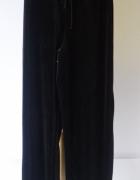 Spodnie Czarne Gina Tricot S 36 Welurowe Dresy Rozszerzane Noga...