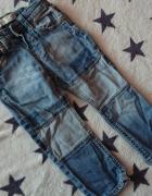 jeansowe spodnie ZARA 92...