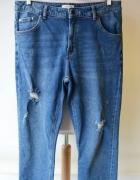 Spodnie Jeans Przetarcia Lindex L 40 Dziury Postrzępione...