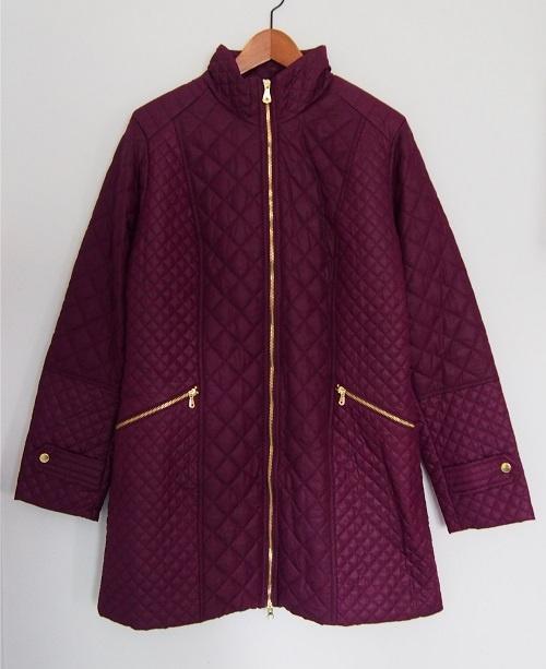 42 BONPRIX Pikowany płaszcz kurtka zipy