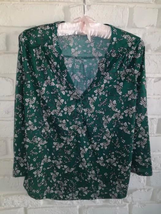 Zielona bluzka w kwiaty H&M XS 34