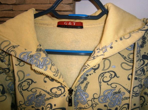 wzorzysta bluza z kapturem S