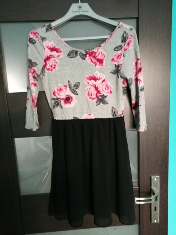 Sukienka w kwiaty odkryte plecy rozmiar 36 H&M