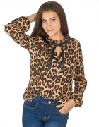 koszula bluzka tasiemka wiązana panterka leo centki uni sexy...