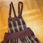 Brązowa spódnica z szelkami