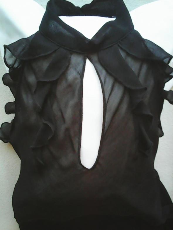 Bluzka wizytowa koktajlowa czarna