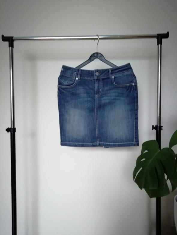 spódnica jeansowa wysoki stan