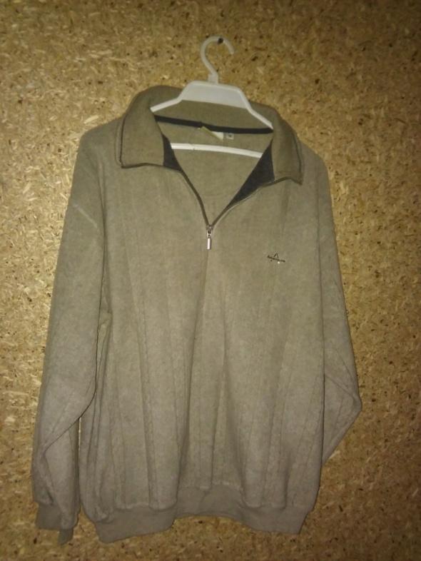 Bluzy Jasnozielona ciepła polarowa bluza męska M