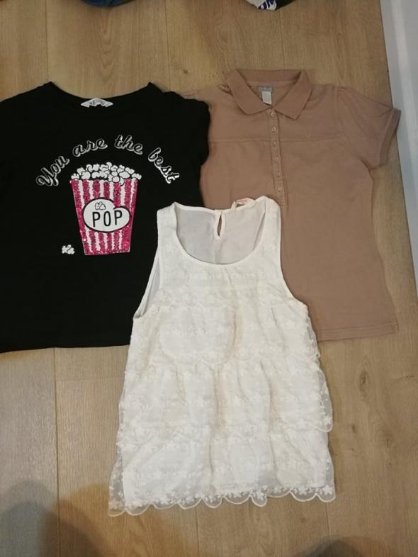 Zestaw bluzeczek 158 i długa piżamka H&M...