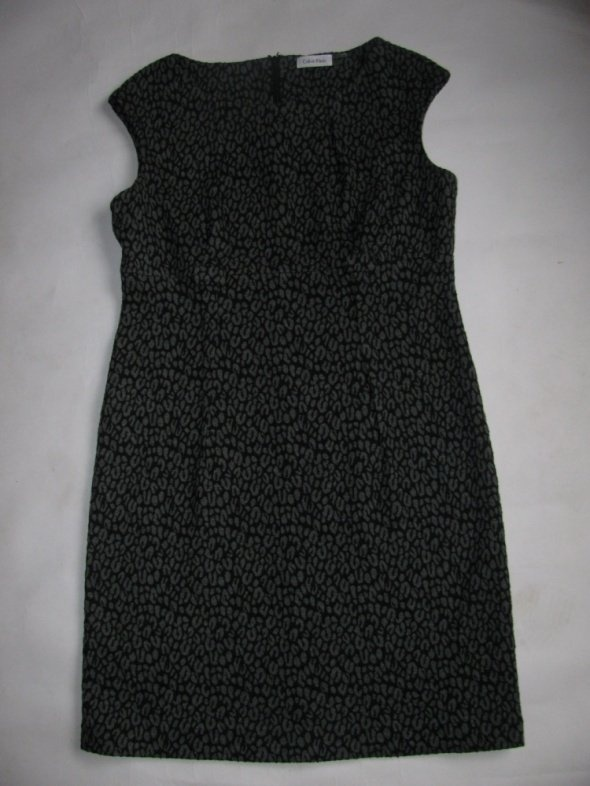 Suknie i sukienki CALVIN KLEIN SZAROCZARNA SUKIENKA PANTERKA 42 44 J NOWA