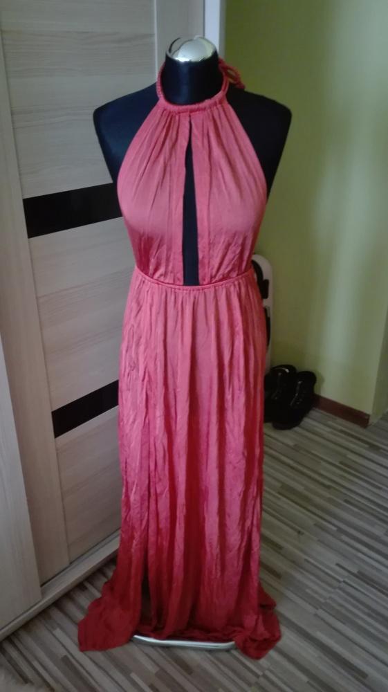 Sukienka długa maxi Petite Asos plażowa xxs 32