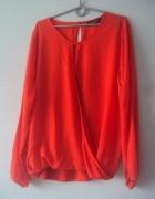 pomarańczowa zakładana bluzka...