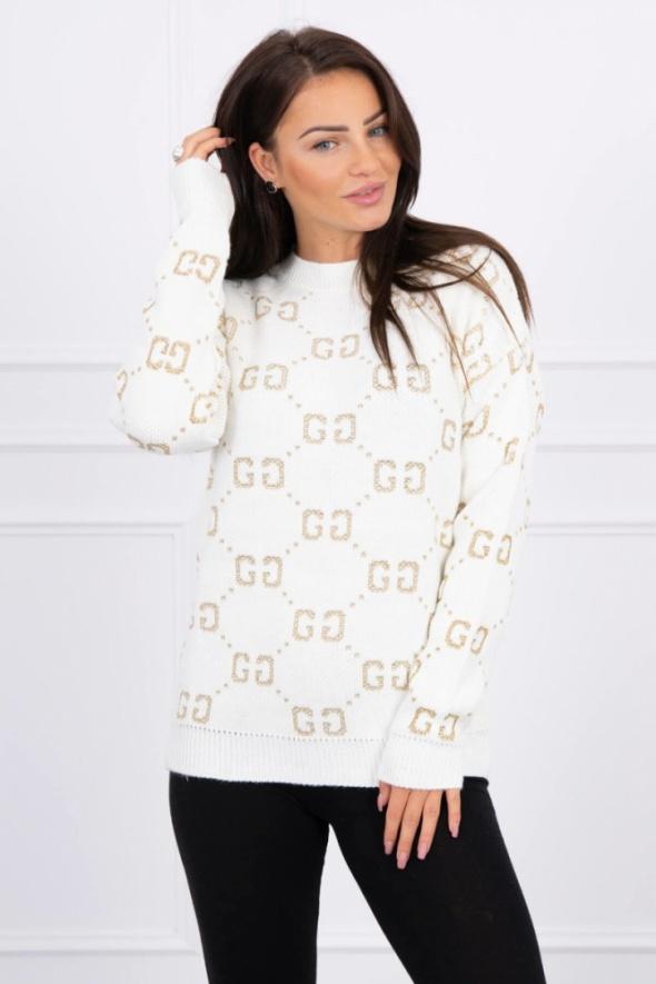 Sweterek ecru GG...