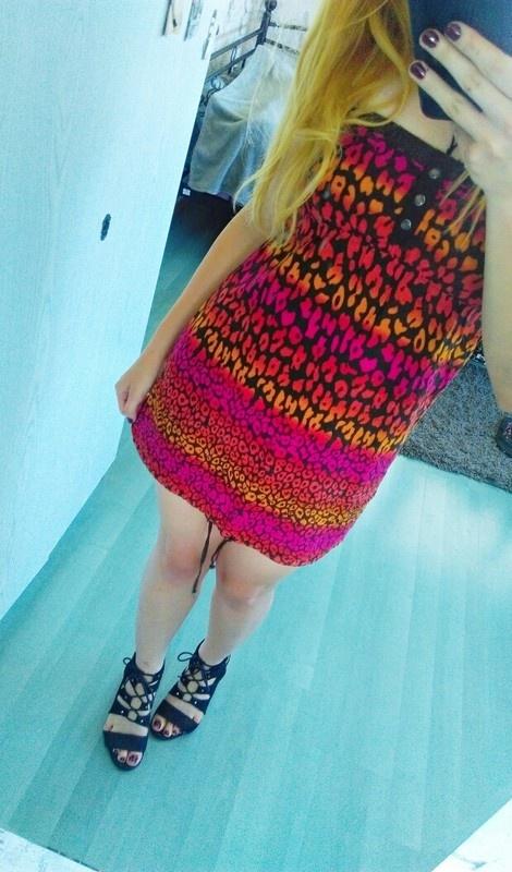 Suknie i sukienki sukienka tunika w panterkę