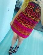 sukienka tunika w panterkę...