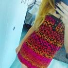 sukienka tunika w panterkę