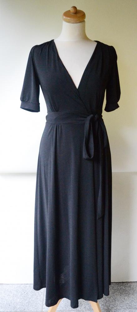 Sukienka Czarna XS 34 Bik Bok Do Karmienia Kopertowa Long...