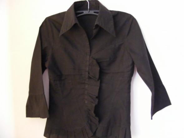 Bluzka czarna koszulowa R 38