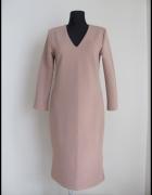 Sukienka jesień i zima stonowany kolor 40 L...