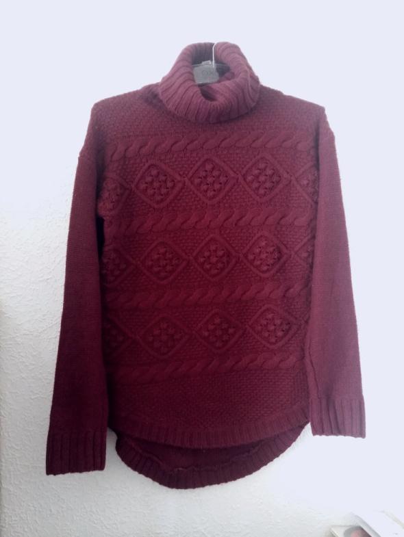 Burgundowy sweter h&m XS