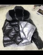 Piękna kurtka dwustronna naturalne duże futro z Lisa...
