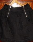 czarna spódnica z koronką i zipami atmosphere...