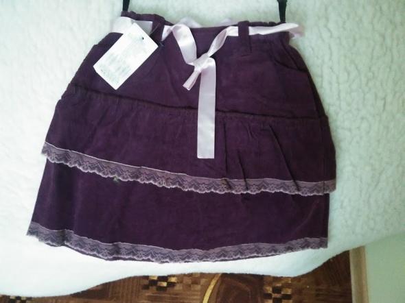 Sukienki i spódniczki Spódniczka z falbankami sztruksowa