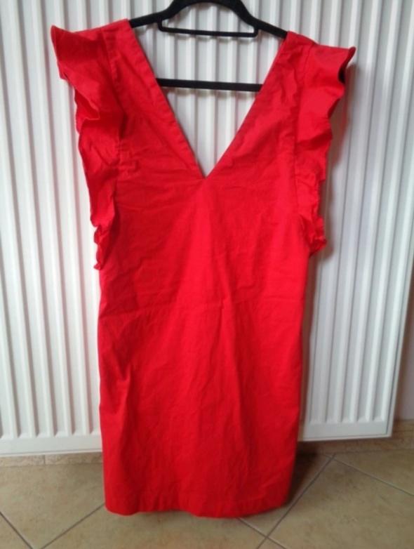 czerwona sukienka xs...