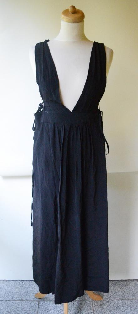 Sukienka Czarna H&M Plażowa Rozporek XS 34 Dekolt...