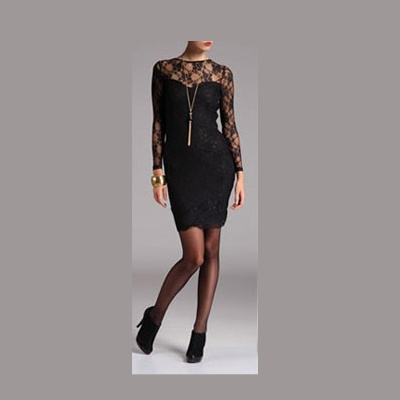 Mała czarna sukienka koronka 36 S Top Secret...