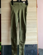 Dwie pary szczupłych spodni XXS 32 XS 34 elastyczne rurki dobry...