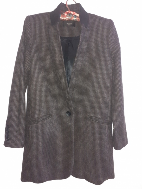 Płaszcz oversize w kratkę
