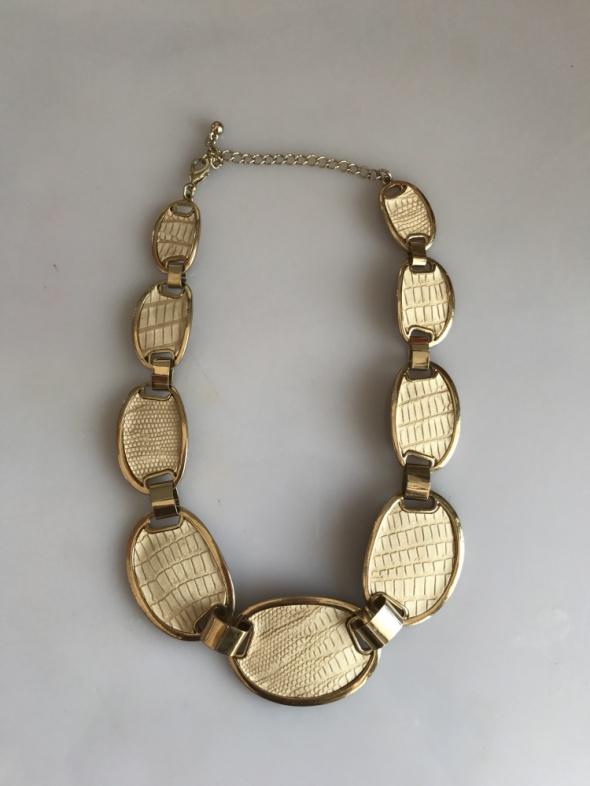 Naszyjnik kamienie nude złoty wąż H&M