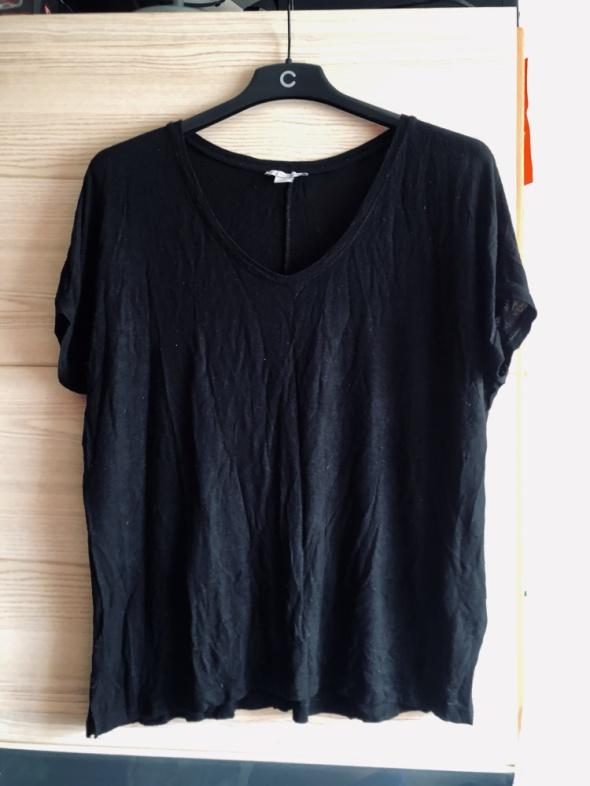 Zestaw koszulek i bluzek CZARNE turkusowe długi rękaw ramiączka