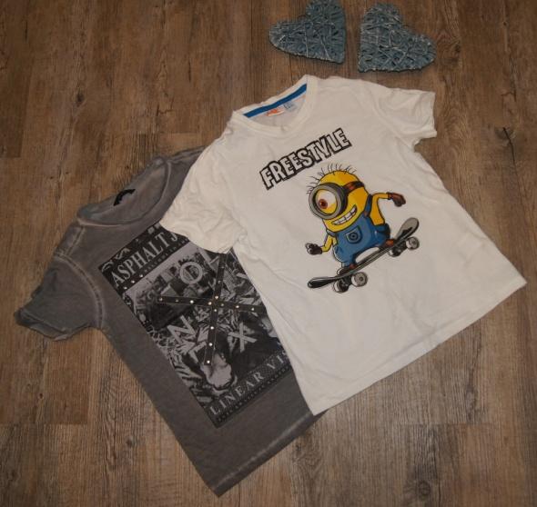 Bluzki Zestaw chłopiec koszulki Minionki rozm 116 122