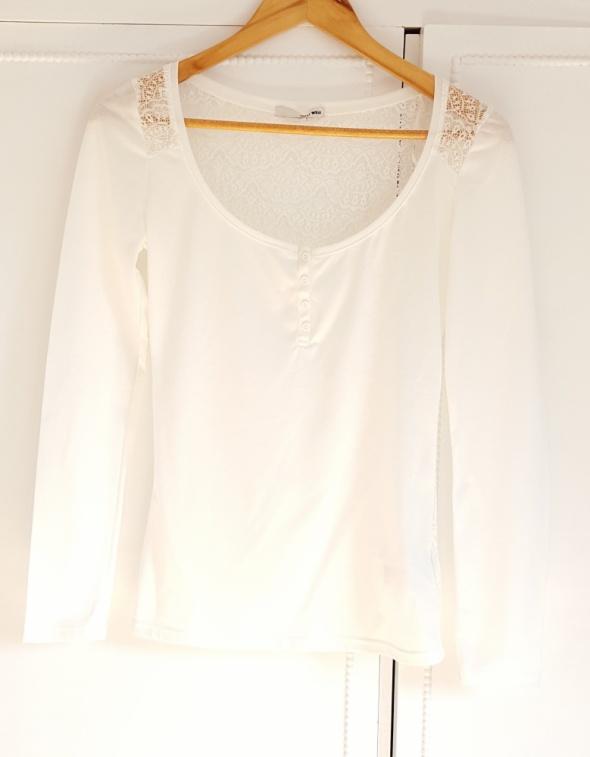 Biała bluzka Tally Weiijl 34 XS koronka plecy dekolt top...