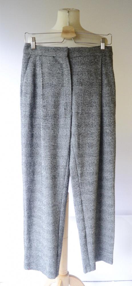 Spodnie Kratka Melanż Mango Suit M 38 Eleganckie Proste Nogawki...