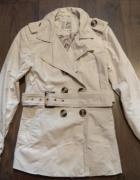 Trencz przejściowy ecru nude beżowy płaszcz House 34 XS...