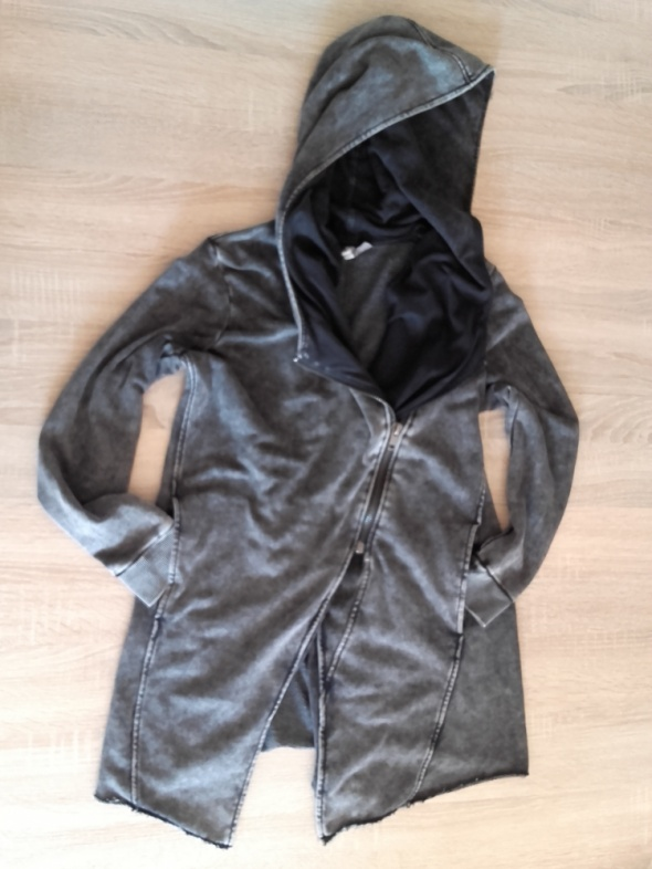 H&M klimatyczna katana bluza z kapturem ramoneska s m oversize...