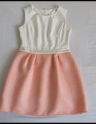 Elegancka sukienka wytłaczany materiał rozmiar 38 M...