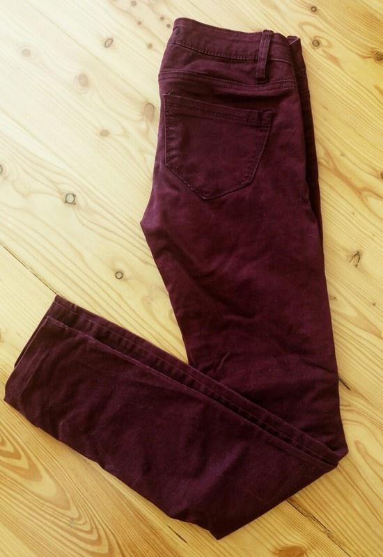 Spodnie Tally Wejil bordo fiolet burgnd XXS 32...