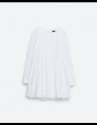 ZARA biały kombinezon sukienka z popeliny guziki na plecach...