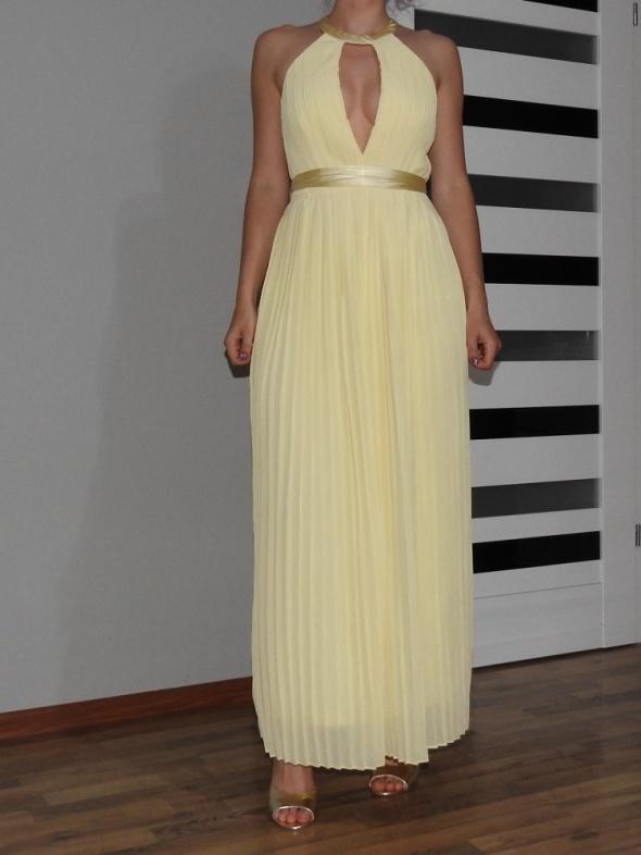 piękna żółta suknia Asos długa maxi