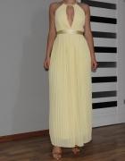 piękna żółta suknia Asos długa maxi...