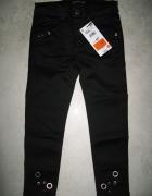 RESERVED czarne spodnie dziewczęce z dżetami roz 104...