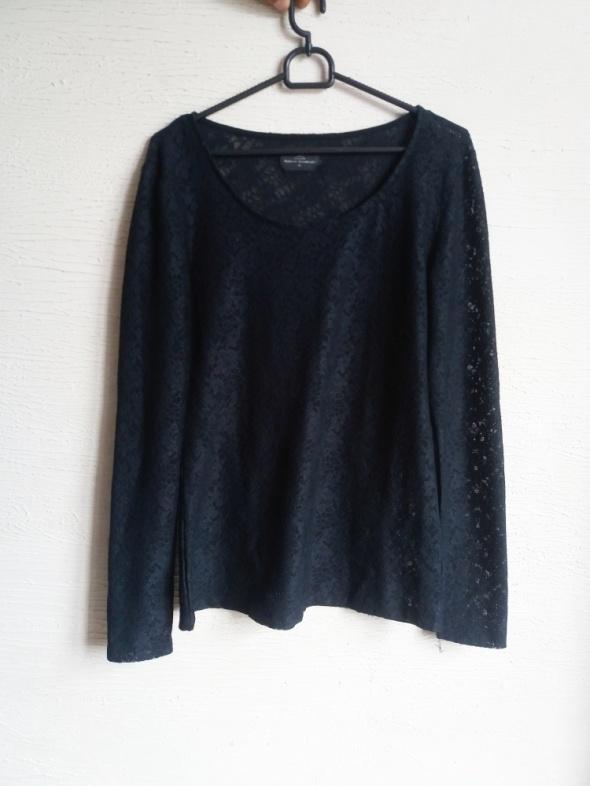 czarna koronkowa bluzka L