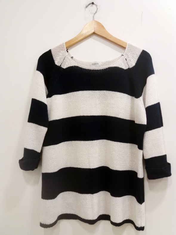 sweter w pasy Reserved Basic L...