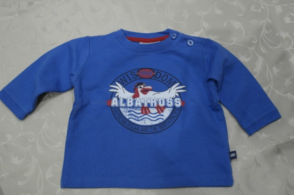 Bluza niebieska z aplikacją 80